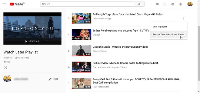 Daha Sonra İzle'deki tüm videolar nasıl silinir YouTube 3
