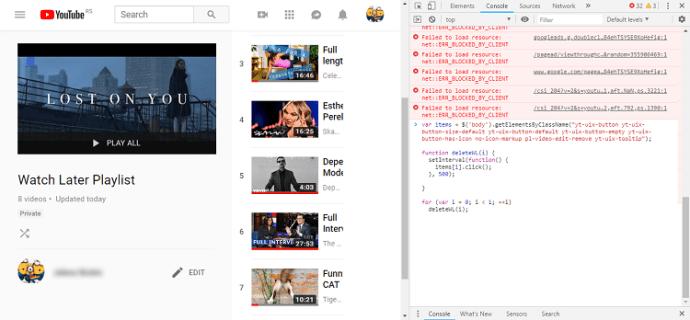 Daha Sonra İzle'deki tüm videolar nasıl silinir YouTube 4
