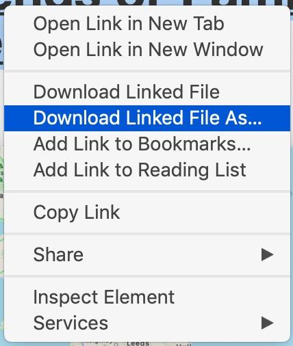 Descargue el archivo PDF vinculado de Safari en Mac