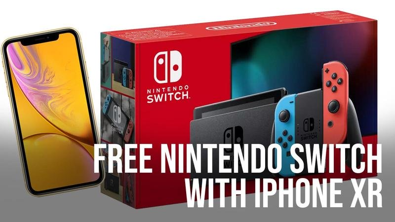 free nintendo switch iphone xr deal