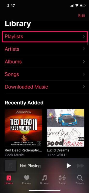 Cómo crear listas de reproducción en Apple Música en iPhone y iPad