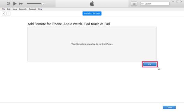 Cómo configurar y usar el iPhone como control remoto de iTunes