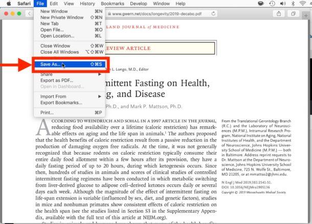 Cómo guardar y descargar un archivo PDF de Safari a Mac
