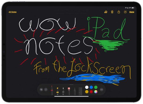 Cómo tomar notas desde la pantalla de bloqueo del iPad con Apple Lápiz
