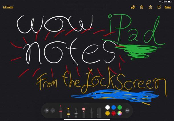 Anotar notas con Apple Lápiz en iPad desde la pantalla de bloqueo