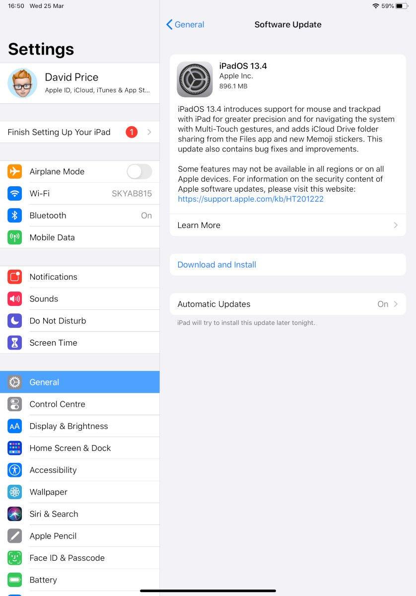 ¿Por qué iPadOS? 13.4: Actualización de software