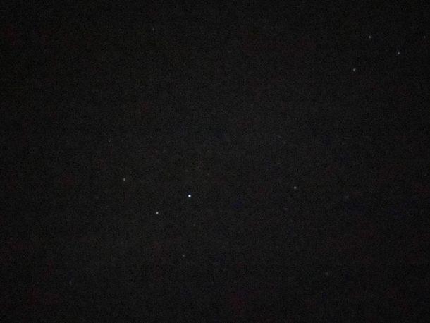 Foto nocturna de estrellas
