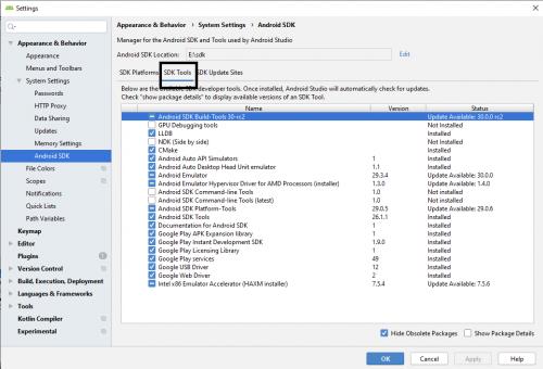 Android Studio üçün Sdk Alətlərini necə yükləmək olar 6