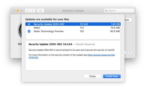 Actualizaciones de seguridad para macOS