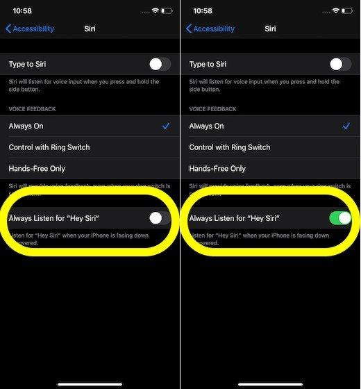 Haga que Siri responda a su voz incluso cuando la pantalla del iPhone esté cubierta