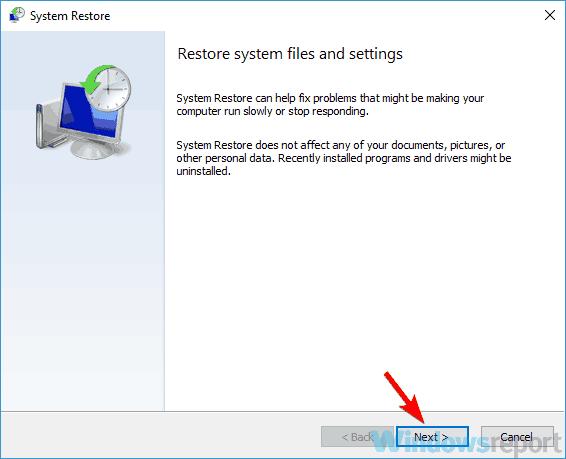 pääikkunan palautus sistema wlanext.exe SSD-muistin hallintavirhe