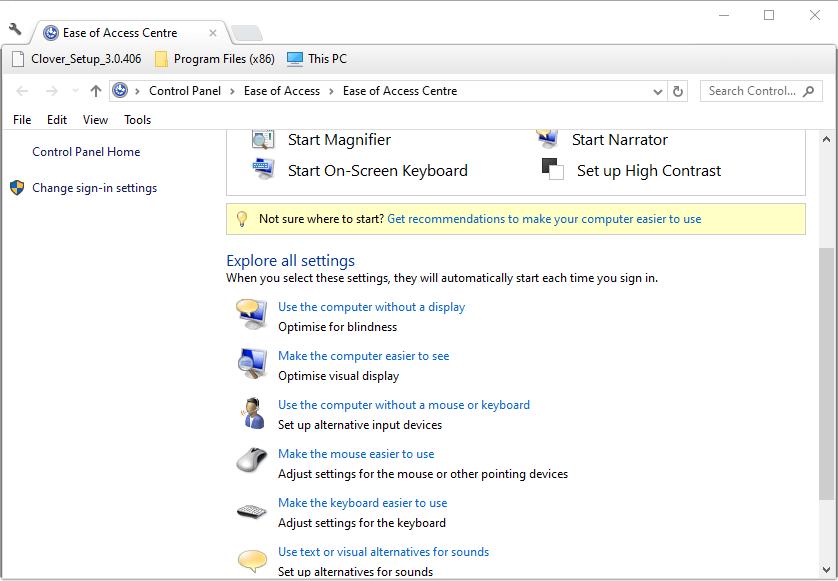 Las flechas de la hoja de cálculo de Excel de applet de Facilidad de acceso no funcionan