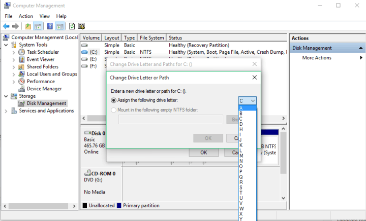 назначить букву диска wind8apps windows 10