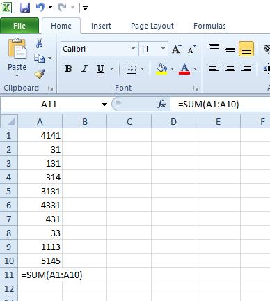 Excel elektronik tablosunda boşluk bulunan işlevler doğru eklenmiyor