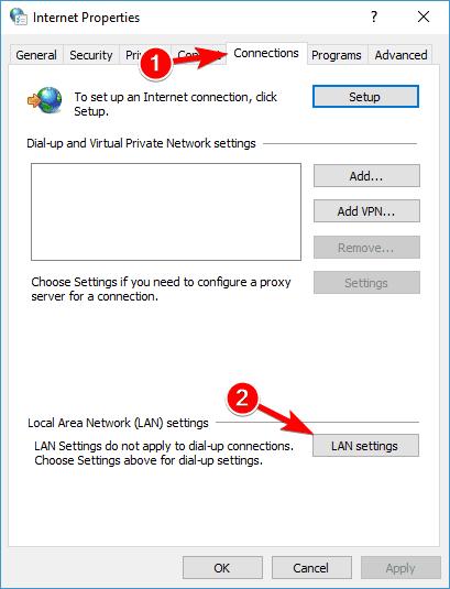 No se puede conectar al servidor proxy Chrome