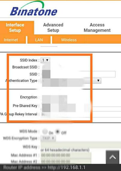 Vyhľadajte heslo WiFi vedľa poľa Predzdieľaný kľúč