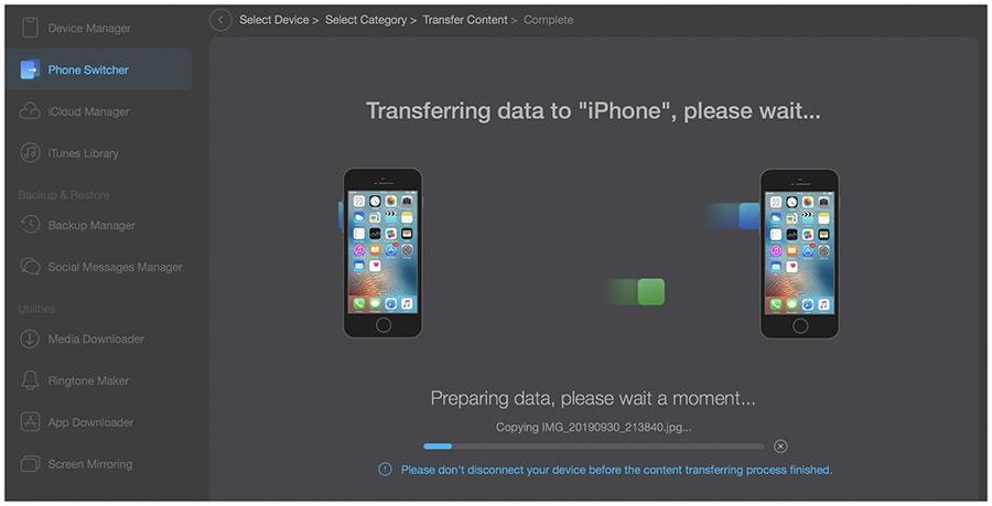 Məlumatları yeni bir iPhone 11-ə köçürün