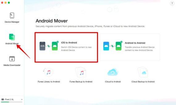 Android-ə köçürmək üçün AnyTrans iOS