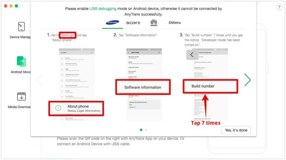 Androiddə USB düzəlişini aktivləşdirin