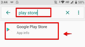 Tìm kiếm Google Play Store sử dụng chức năng tìm kiếm ở phía trên bên phải màn hình