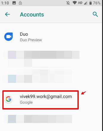 Chọn tài khoản Google của bạn
