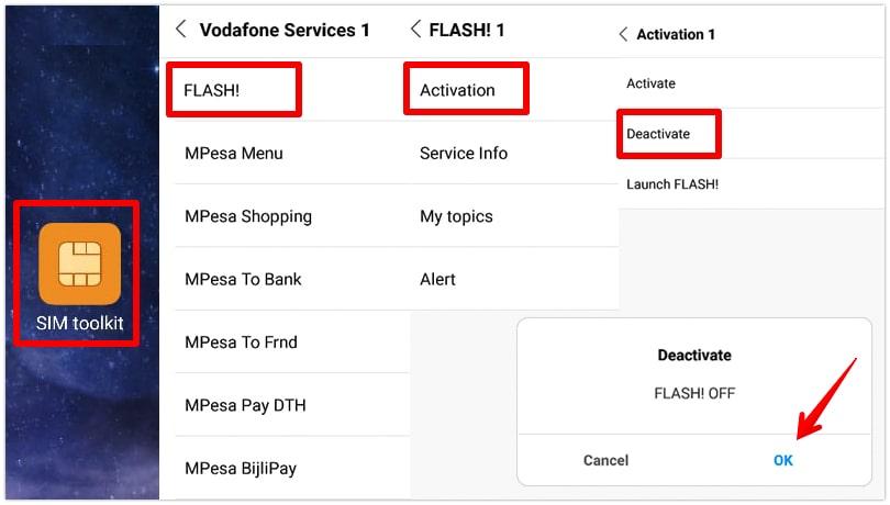 Android'de flash mesajları devre dışı bırakma adımları