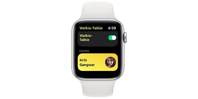 Ako používať Walkie-Talkie Apple Watch 3