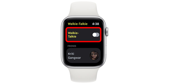 Ako používať Walkie-Talkie Apple Watch 1
