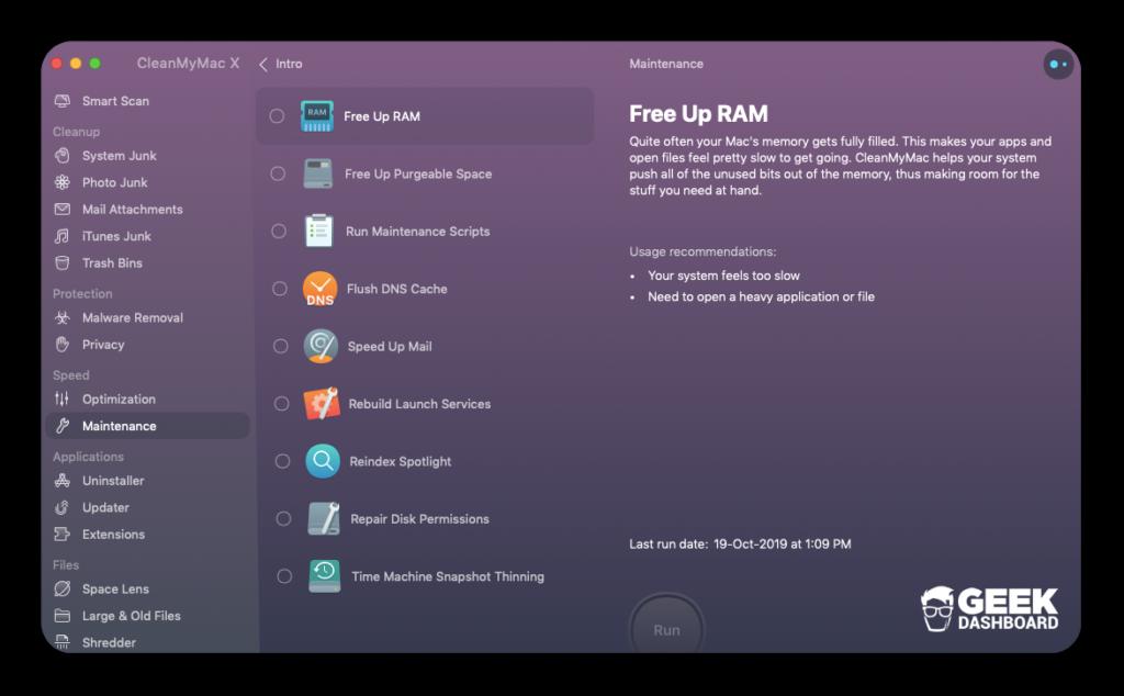 Mac sürətini CleanMyMac X baxım xüsusiyyətləri ilə artırın