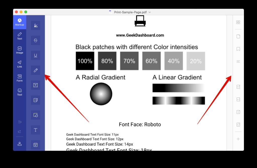 Yenilənib PDFelement istifadəçi interfeysi