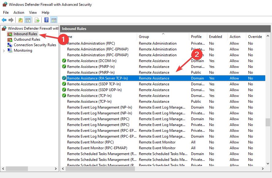 Asistencia remota habilitada: error de detención de escritorio remoto 0x104