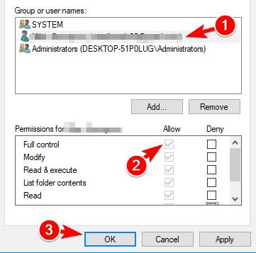 "File Explorer hangs Windows 10 ""width ="" 361 ""height ="" 357 ""srcset ="" https://applexgen.com/wp-content/uploads/2020/04/1586258229_43_Como-reparar-los-fallos-del-Explorador-de-archivos-en -Windows.png 361w, https://windowsreport.com/wp-content/uploads/2017/10/file-explorer-crashes-ownership-7-300x297.png 300w, https://windowsreport.com/wp-content/uploads /2017/10/file-explorer-crashes-ownership-7-212x210.png 212w, https://windowsreport.com/wp-content/uploads/2017/10/file-explorer-crashes-ownership-7-120x120. png 120w, https://windowsreport.com/wp-content/uploads/2017/10/file-explorer-crashes-ownership-7-140x138.png 140w, https://windowsreport.com/wp-content/uploads/ 2017/10 / file-explorer-crashes-ownership-7-70x70.png 70w ""tama ="" ""m ="""