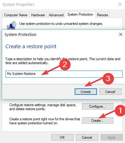 bərpa edin sistema windows  10