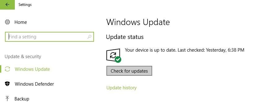 windows        cập nhật