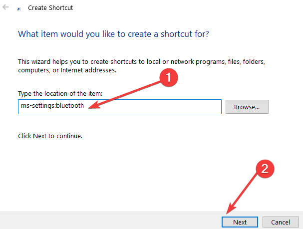 create shortcut to configuration page windows 10