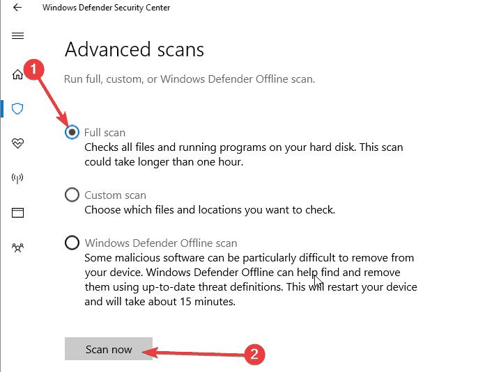 escanear la computadora en busca de virus