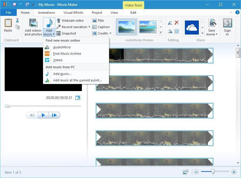 windows    Movie Maker -musiikkipaneeli kuinka asentaa windows elokuvantekijä