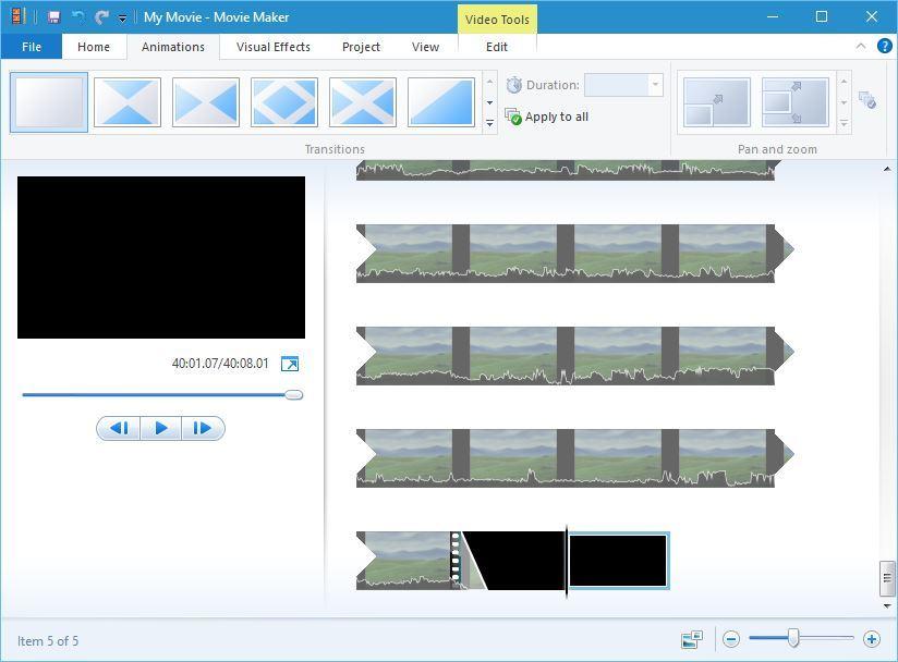 windows    Movie Maker siirtyy asennuksen suhteen windows elokuvantekijä