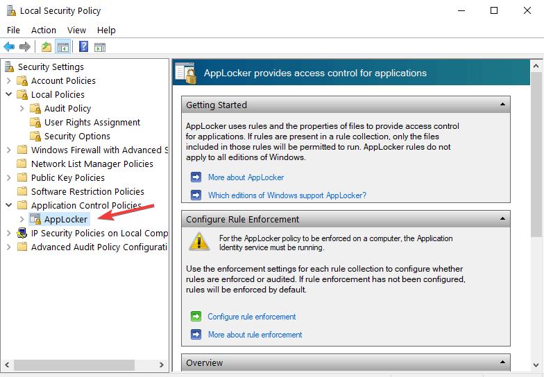AppLocker windows 10