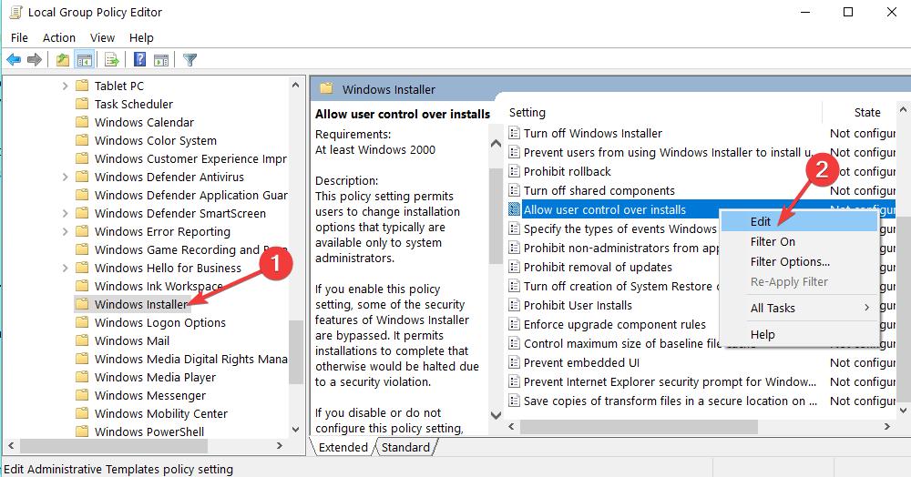 estää käyttäjiä asentamasta tietokoneohjelmistoja