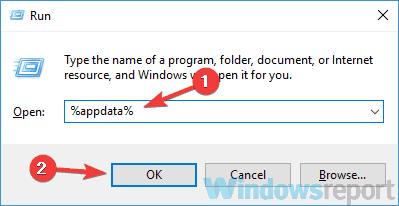 işləyən appdata nifaqı açıla bilməz windows 10