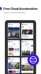 UC Browser Turbo: descarga rápida, segura, captura de pantalla del bloque de anuncios