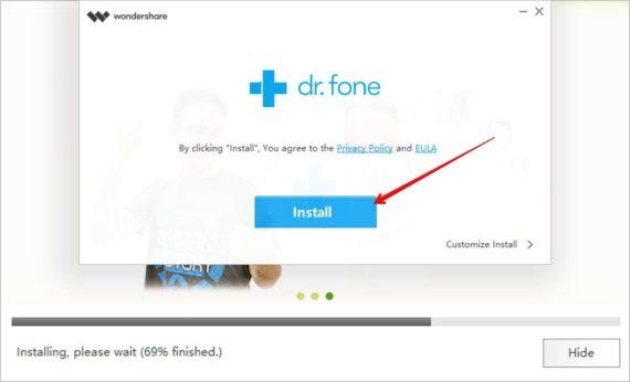 Dr.fone quraşdırın - WhatsApp Transfer