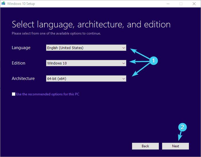 chọn ngôn ngữ và cài đặt lỗi phiên bản 0xc000021a