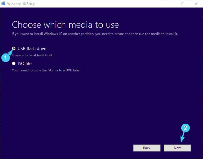 chọn phương tiện để sử dụng lỗi cài đặt 0xc000021a