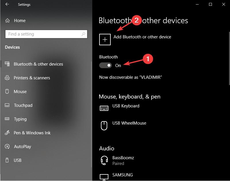 Lisää Bluetooth-laite: miksi tietokoneeni ei löydä sirkkuani?