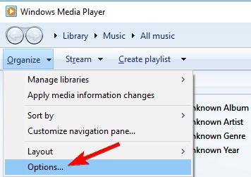 Windows  Media Player no reproducirá video MP4