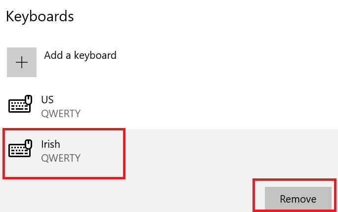 klaviaturanı çıxarın windows 10