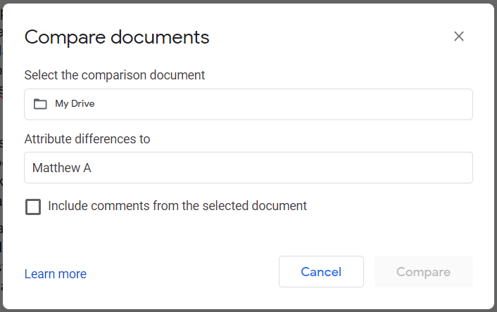 Compare dropbox documents conflicting copy