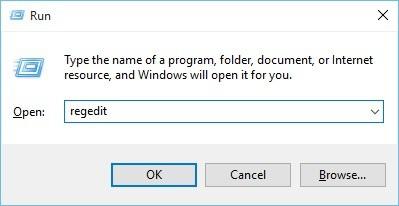chyba registrácie okna regedit